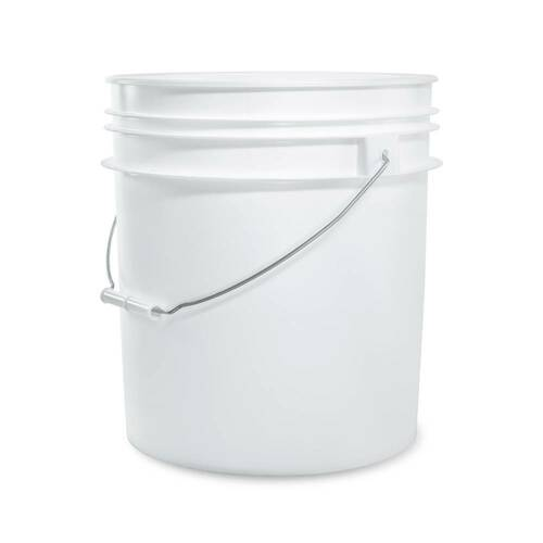 5 gal. BPA Free Food Grade White Bucket (T40MW)