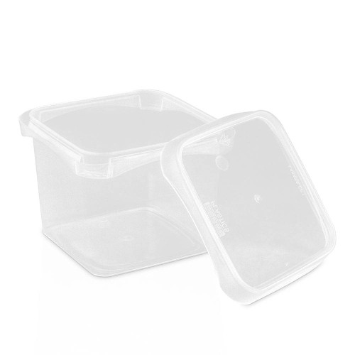 16 oz. BPA Free Food Grade SelecTE� (Tamper Evident) Square Container with Lid (T4X416IMLCP & L4X4IMLCP) - Clarified (Clear) or White - starting quantity 25 count - FREE SHIPPING