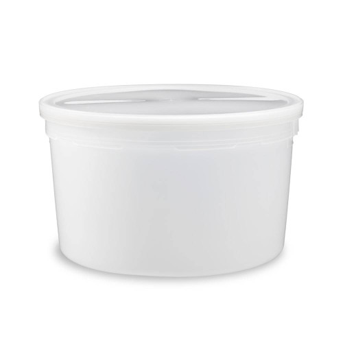 1 gal  BPA Free Food Grade Round Bucket with White Plastic