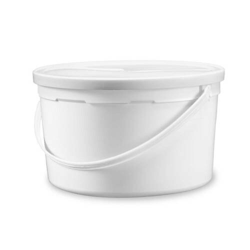 1 gal. BPA Free Food Grade Round Bucket with White Plastic Handle and Lid (T808128B & L808) - starting quantity 30 count - FREE SHIPPING