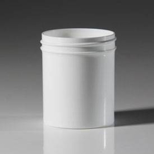 4 oz. Single Wall Straight Base Plastic Jar (JSW045800PP) - White - 432 count - case