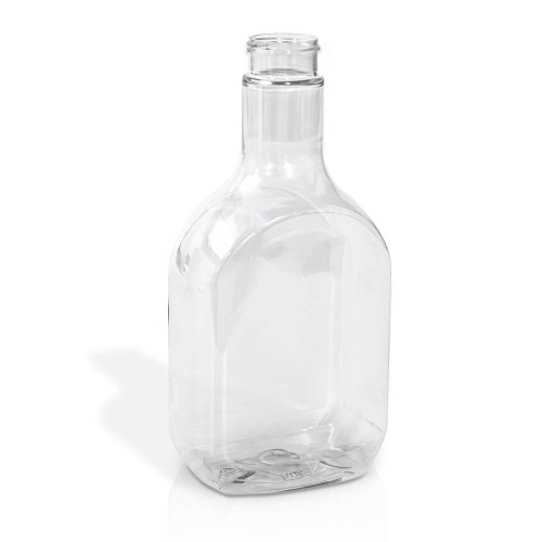 Plastic Oval Bottles - Clear (PET)- Salad Dressings, Sauces, Marinades - Various Sizes & Quantities