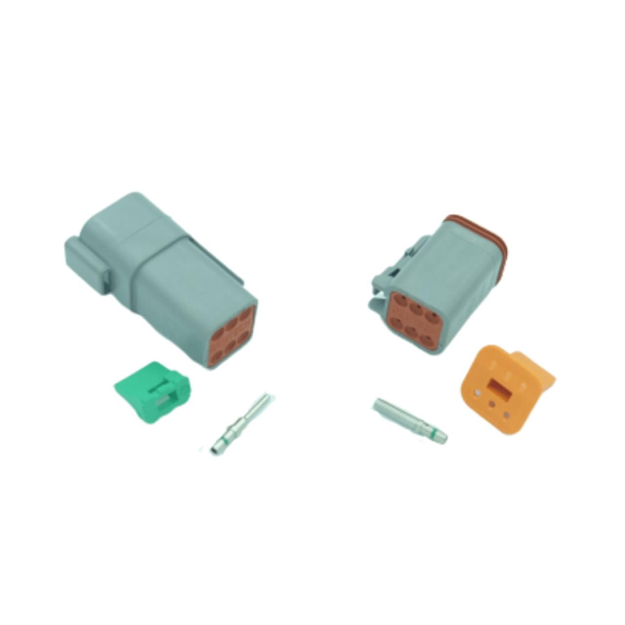 6 pin Deutsch connector set