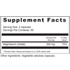 Supplement Facts Serving Size: 2 capsules; Servings Per Container: 60 Ingredients: Magnesum (citrate) 300mg; 75% Daily Value. *Percent Daily Values are based on a 2,000 calorie diet. Other ingredients: Vegetable cellulose (capsule).