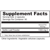 Supplement Facts  Serving Size: 2 capsules; Servings Per Container: 90 Ingredients: Nettle leaf 1300 mg †. †Daily Value not established. Other Ingredients: Vegetable cellulose (capsule).