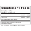 Supplement Facts Serving Size: 1 softgel; Servings Per Container: 120 Ingredients: Vitamin D3 (as cholecalciferol) (from Lanolin) 5000 IU. Other Ingredients: Olive oil, gelatin, glycerin, water.