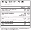 Supplement Facts Serving Size: 1 capsule; Servings Per Container: 100  Ingredients: Thiamin Hydrochloride (vitamin B-1) (from Thiamin HCl) 50 mg, Riboflavin (Vitamin B-2) 50 mg, Niacin (Vitamin B-3)(as Niacinamide) 50 mg, Vitamin B-6 (from Pyridoxine HCl) 50 mg, Folate 667 mcg DFE (400 mcg folic acid), Vitamin B-12 (as Cyanocobalamin) 50 mcg, Biotin 50 mcg, Pantothenic Acid (from Calcium Pantothenate) 50 mg, Choline (from Choline Bitartrate) 25 mg, PABA  (Para-Aminobenzoic Acid) 25 mg, Inositol 25 mg.   Other Ingredients: Cellulose (capsule), Cellulose Powder, Silica and Magnesium Stearate (vegetable source).