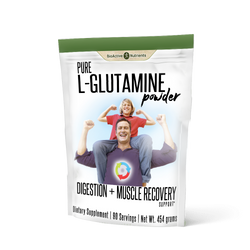 Gluten-free | Animal-free | Yeast-free L-Glutamine is the most abundant amino acid in the body and is important for many functions, including digestive health, immune support and muscle growth. Stress, exercise, illness, and poor diet can deplete our supply of this important nutrient.