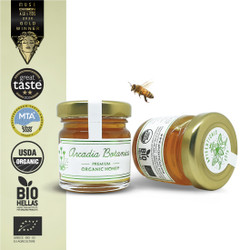 Farm to table, directly from the beehive to the jar, ARCADIA BOTANICA Premium Organic Honey is a stunning full-bodied flower blossom honey, harvested in the rich Botanical Greek land of Arcadia. Collected by our bees, who fly free from acacia to fir trees to heather, along with a vast variety of therapeutic Greek herbs.  ARCADIA BOTANICA Honey packs a multitude of bio-active plant compounds, which carry an abundance of vitamins, amino acids, fatty acids, and many other micro-nutrients and antioxidants!  This honey is sustainably extracted by centrifugal force method and with absolutely zero heating process - which is why it sustains all its beneficial nutritional elements.     ✓ TASTE: Full-bodied fresh floral flavor with a robust, gratifying botanical aftertaste  ​✓ AROMA: Pleasantly memorable scent, with fragrant floral top notes and a light-fresh botanical aroma  ​✓ COLLECTION PERIOD: Spring Season  ​✓ HARVEST LOCATION: Ancient Mantinea fields, Arcadia, Greece