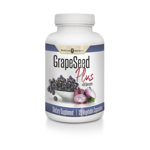 The well known antioxidant power of Grape Seed combined with the free radical scavenging properties of Quercetin make this one-of-a-kind formula a must-have for your defense arsenal.  This dynamic duo supports: Free Radical Defense*, Already Healthy Blood , Pressure*, Heart Health & Circulation*, Healthy Seasonal Response*.