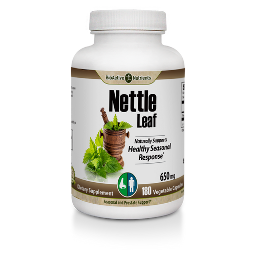 Gluten-free | Animal-free | Yeast-free A favorite of herbalists for centuries, Nettle Leaf is one of the most nutritionally dense greens, providing quercetin, magnesium, iron, and other important nutrients, and naturally supporting: Healthy Seasonal Response*, Prostate Health*