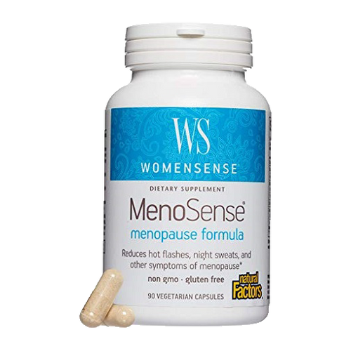 MenoSense® is an all-natural formula which may provide support for symptoms associated with menopause, such as hot flashes and night sweats.