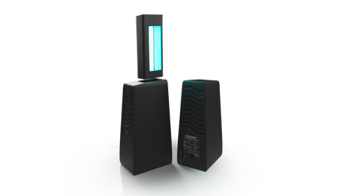 PIONAIR™ Air Treatment System doesn't wait for pollutants to contact a filter or plate. Instead, the PIONAIR™ generates air-purifying technology that migrates through the area and neutralizes organic odors, microbes, and molds at their source.