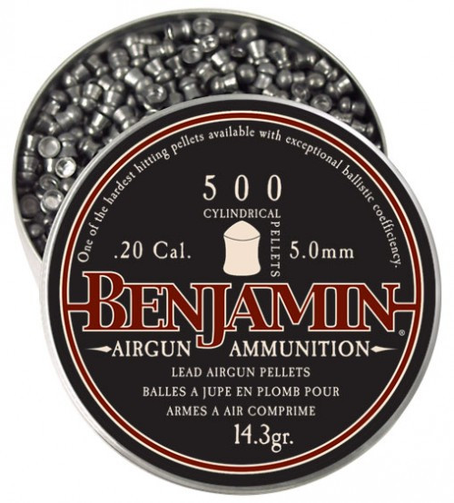 Benjamin Cylindrical Hunting Pellet .20 Cal. 500 Count
