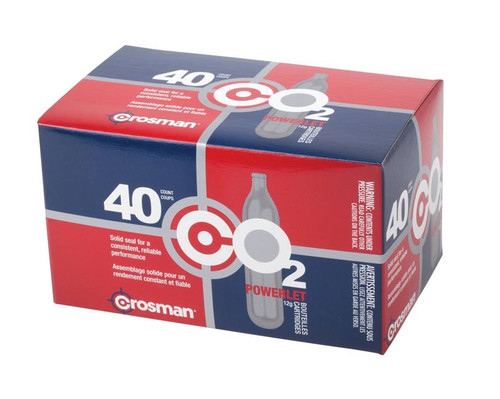 Crosman Powerlet CO2 Cartridges 40 Count, 12 Gram