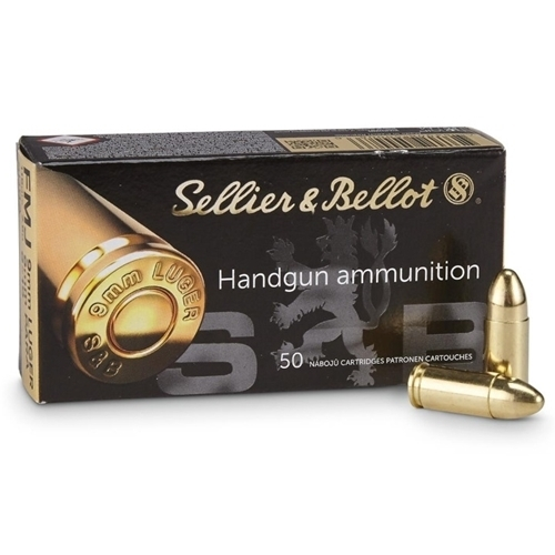 S&B 9mm 115gr FMJ 50 rounds