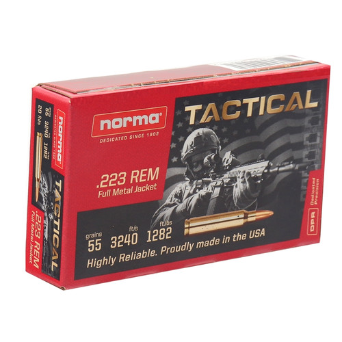 Norma .223 55gr Tactical FMJ 20 rounds