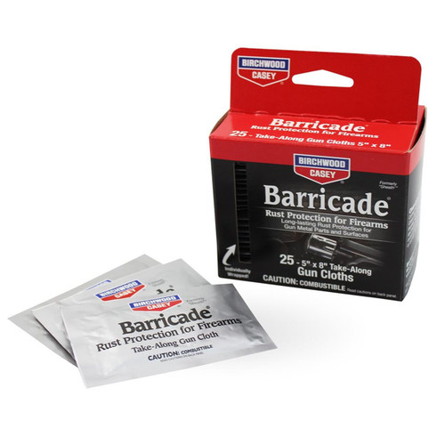 Birchwood Casey Barricade Rust Protection Take-Alongs (25 Pack)