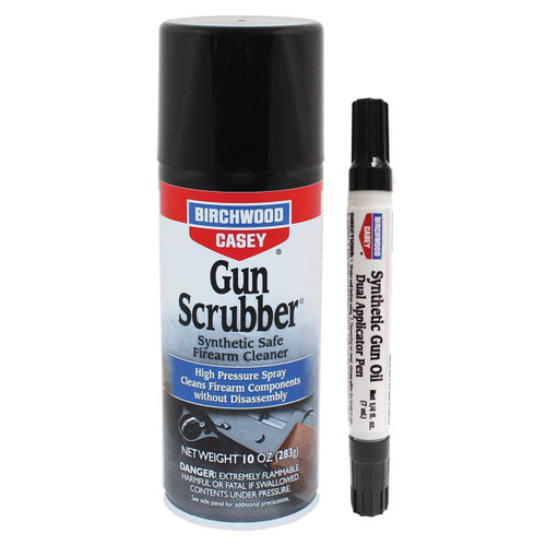 Birchwood Casey Gun Scrubber Synthetic Firearm Cleaner & Dual Applicator Pen Pack