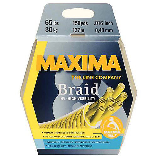 Maxima Yellow Braid 150Yrds