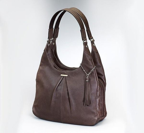 Conceal Carry Pleated Slouch Bag