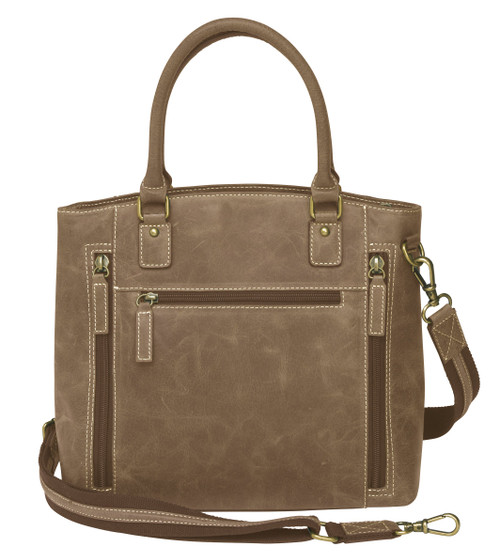 Conceal Carry Buffalo Leather Town Tote