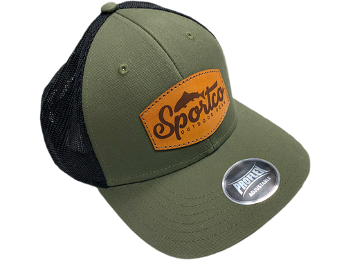 Sportco Leather Emblem Snapback