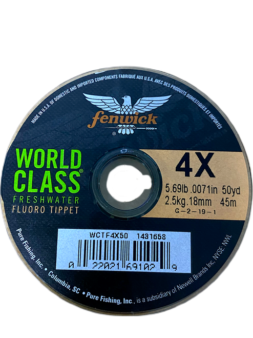 World Class Freshwater Fluoro-Tippet
