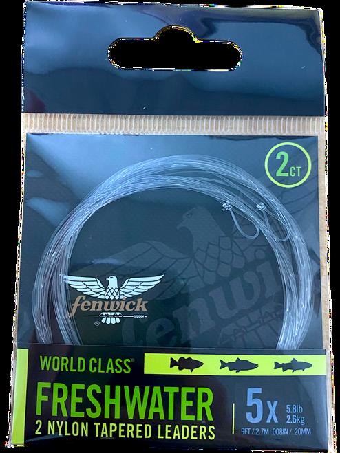 World Class Freshwater Nylon Tapered Leader (2 Pack)