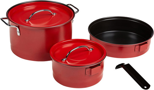 6 Piece Red Family Cookware Set