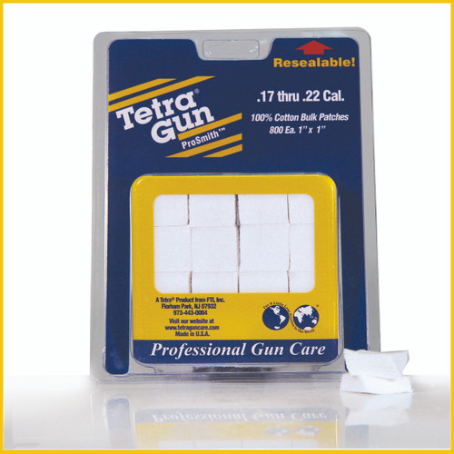.17 - .22 Cal. Cotton Cleaning Patches (800 Pack)