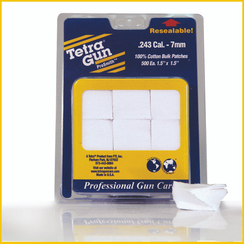 .243 Cal. - 7mm Cotton Cleaning Patches (500 pack)