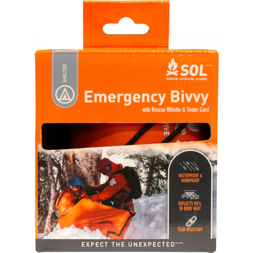 SOL Emergency Bivvy with Rescue Whistle
