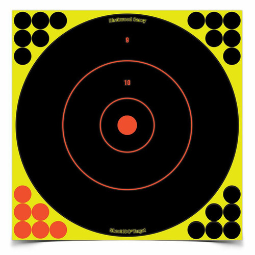 "Shoot•N•C® 12"" Yellow Bull's-Eye- 12 Targets & 288 Pasters"