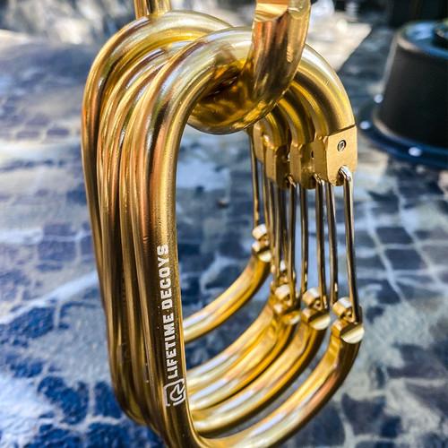 2 Pack – Big Gold Carabiners