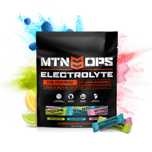 Mountain Ops Electrolyte Stick Pack- Hydration and Recovery