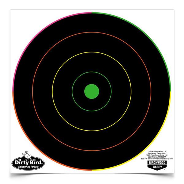 """Birchwood Casey Dirty Bird 8"""" Multi-Color Bulls-Eye (20 Pack)"""