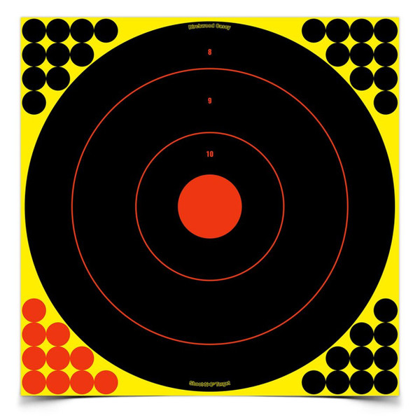 "Birchwood Casey Shoot-N-C 17.25"" Bulls-Eye 5 Targets/200 Pasters"