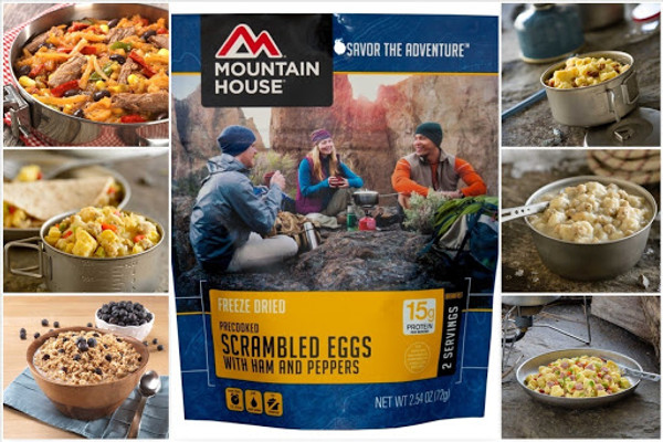 Mountain House Freeze Dried Breakfasts | Use Code for $1 off ea meal!