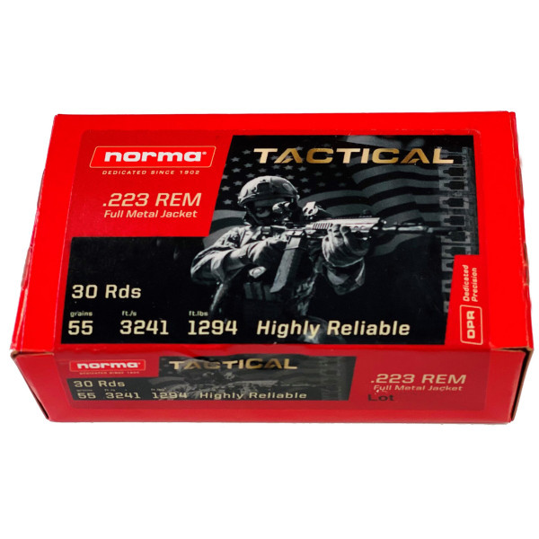 Norma .223 FMJ Tactical Rounds (30)