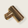 Brass Support Bar U-Bracket for 10mm and 12mm Glass
