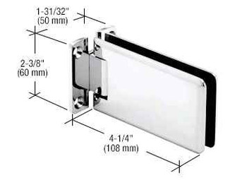Grande Chrome Grande 037 Series Wall Mount Standard Back Plate Hinge