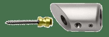 Brushed Nickel Mitered Support Bar Bracket