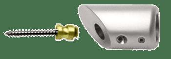 Polished Nickel Mitered Support Bar Bracket