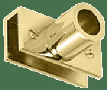 Brass Adjustable Slim Line Glass Mount Fitting