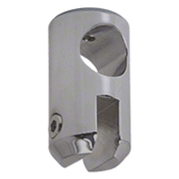 Brushed Nickel Movable Bracket for 6mm Glass
