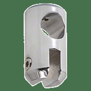 Chrome Movable Bracket for 6mm Glass