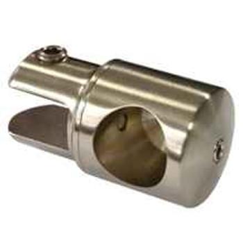 Brushed Nickel Support Bar U-Bracket for 3/8 and 1/2 Glass