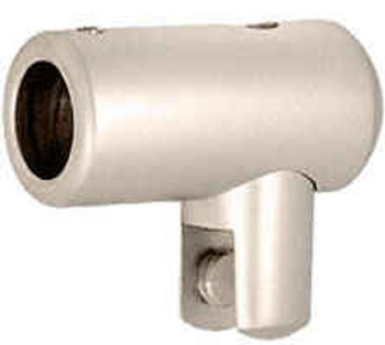 Satin Nickel Support Bar U-Bracket for 10mm and 12mm Glass