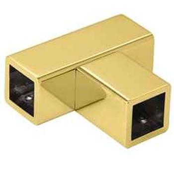 Brass T Junction Bracket for Square Bar